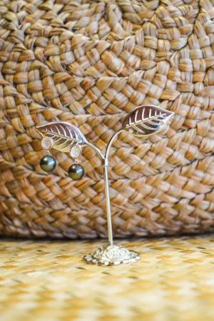 Boucle d'oreilles Onlyvahine Bella 2 perles