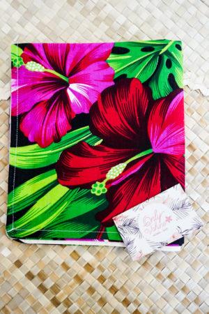 2 Taie rectangle fleur d'hibiscus Tahiti