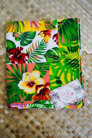 2 Taies rectangle fleurie Tahiti