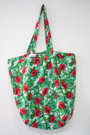 Sac Fleurie vert hibiscus Tahiti